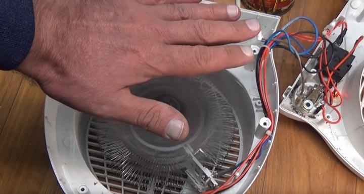 тепловентилятор дует но не греет причина