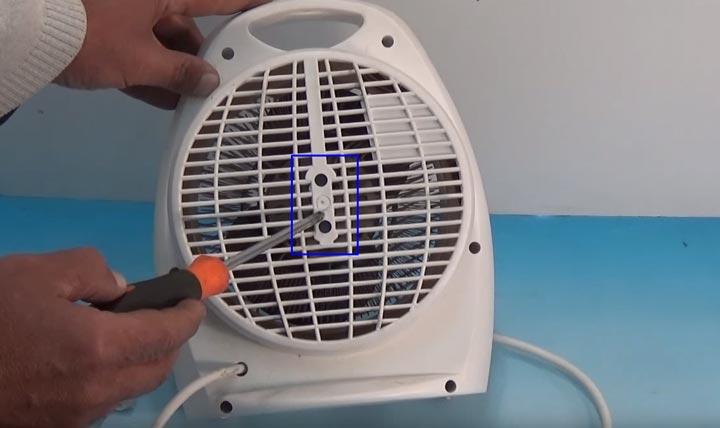 как разобрать дуйку тепловентилятор