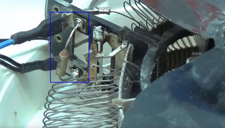 перепаянный термопредохранитель на дуйчике