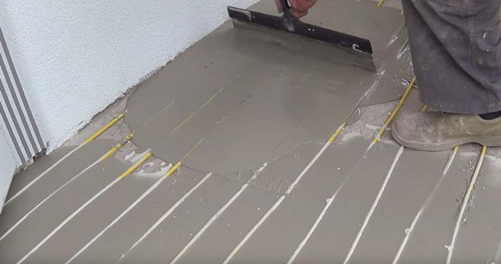 защитный слой раствора при монтаже теплого пола на улице на ступеньках и крыльце дома