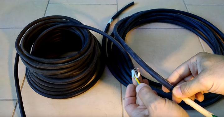 наглядное сравнение кабеля ВВГнг LS и ВВГнг FRLS