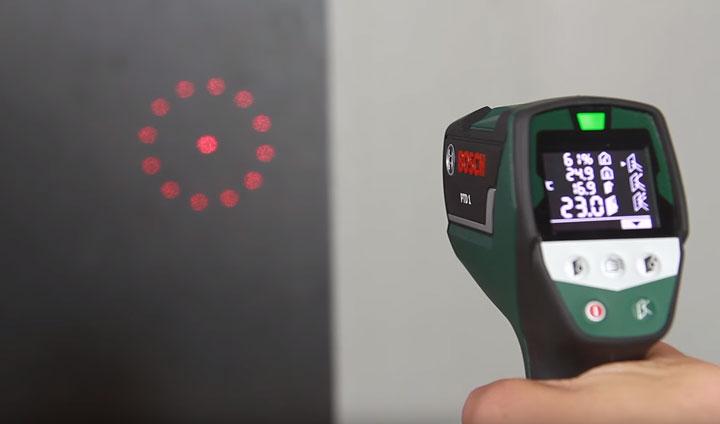 диаметр точки измерения температуры пирометра