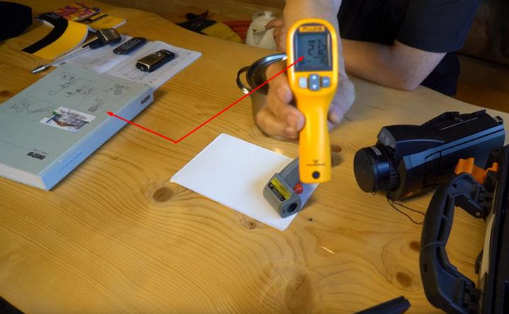 результаты измерения температуры предметов при комнатной температуре