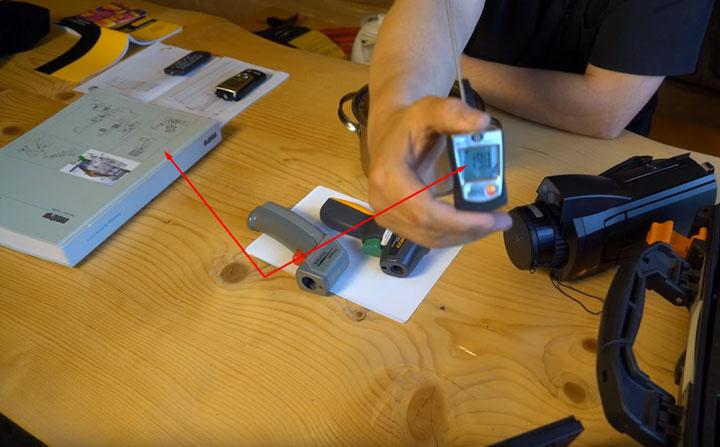 разница при измерениях контактным и бесконтактным термометром