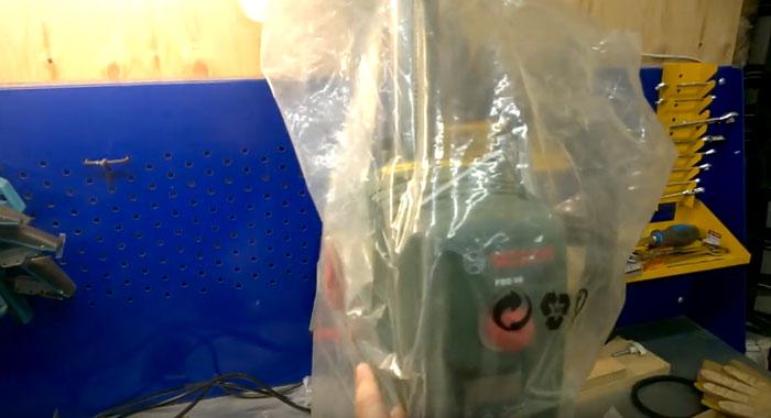 зачем закрывать полиэтиленом инструменты при обогреве газовой пушки гаража