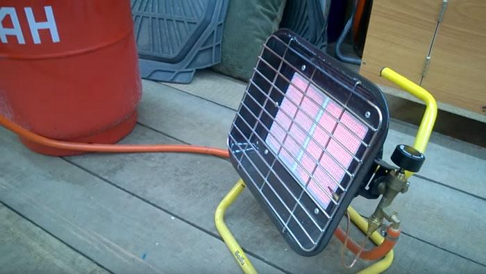 инфракрасный газовый обогреватель в гараж