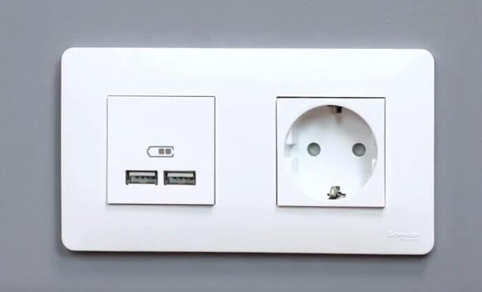розетка USB зарядка Шнайдер электрик
