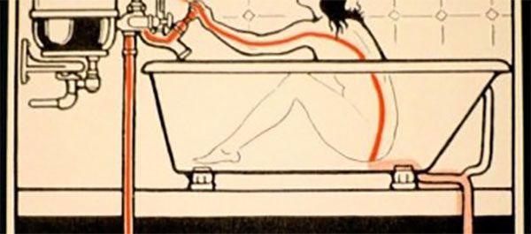 утечка тока по воде в акриловой ванне