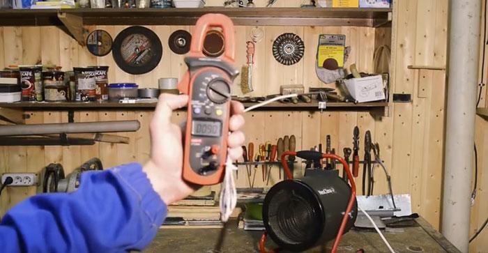 измерение температуры на выходе из пушки электрической