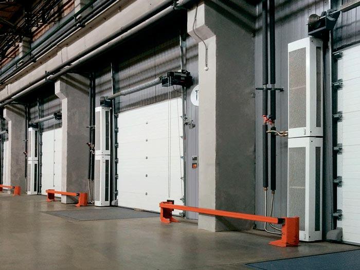 тепловые завесы в промышленных помещениях