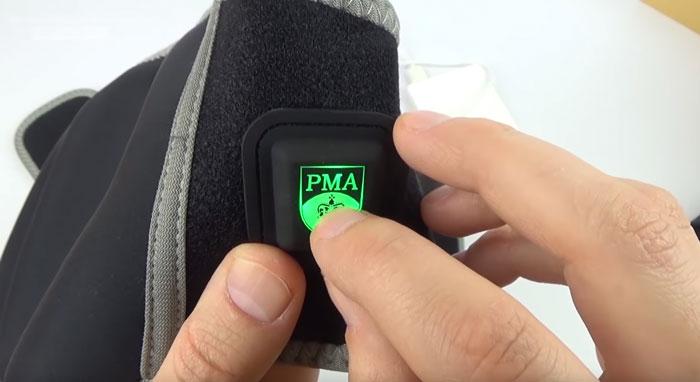 кнопка включения режимов работы пояса с подогревом Xiaomi