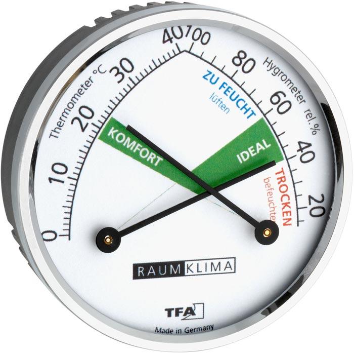 выносной настенный гигрометр и термометр для замера уровня влажности