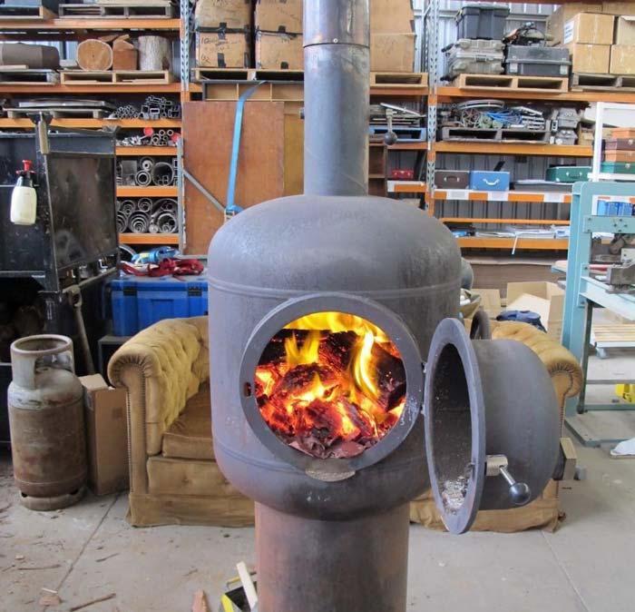 дровяная печка буржуйка для отопления гаража