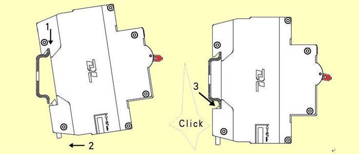 инструкция как установить автматичекский выключатель на din рейку