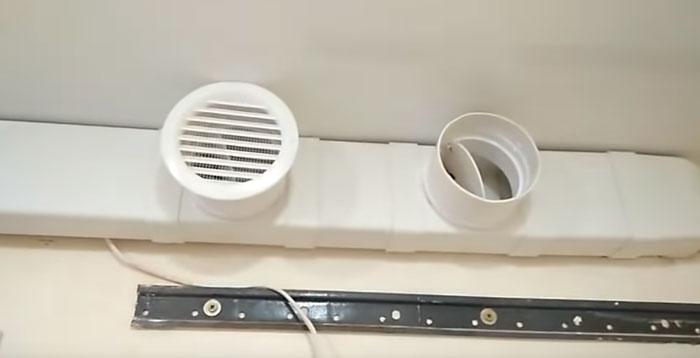 как подключить воздуховод вытяжки к вентиляции