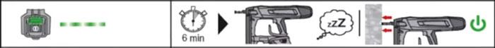 спящий режим у пистолета хилти BX3