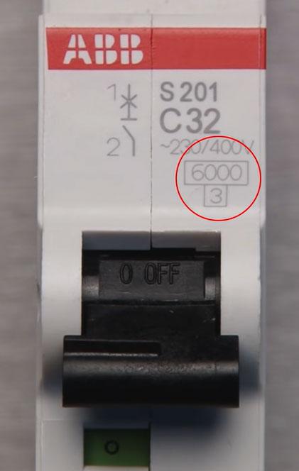 автомат с током отключения 6кА