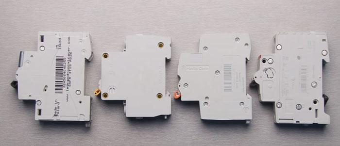 количество заклепок на автоматических выключателях