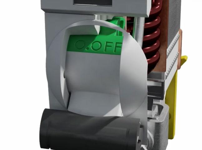 цветной глазок отключенного положения автоматического выключателя