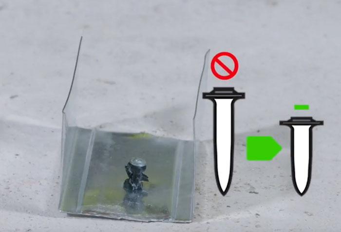 как правильно забивать гвозди пистолетом хилти BX3 гвоздь торчит