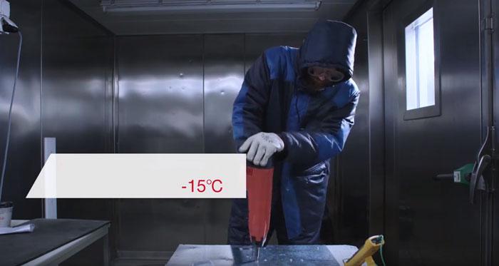 работа пистолетом хилти в мороз и холод