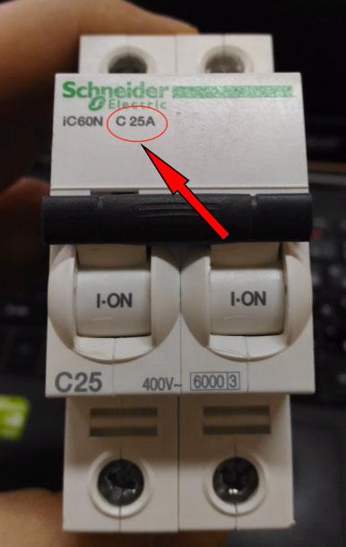 номинальный ток автоматического выключателя С25