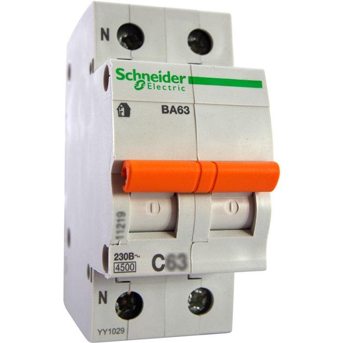 двухполюсный автомат с подключением нулевого провода