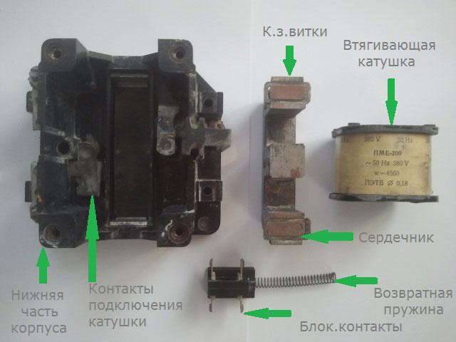 конструкция контактора