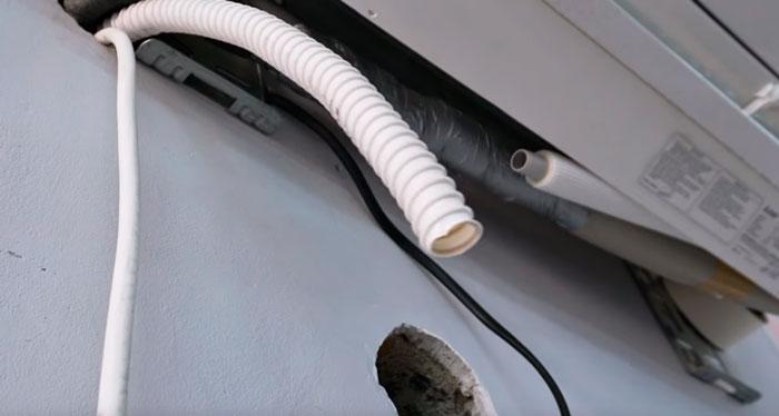 подключение дренажного шланга кондиционера