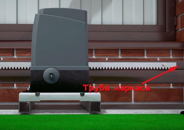 где устанавливать направляющую рейку на откатных воротах