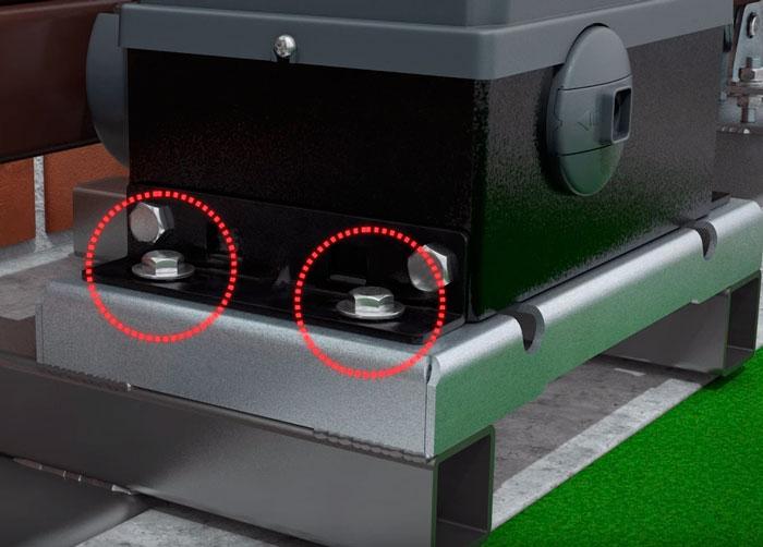 выставление нужного зазора зубчатой рейки и шестерни привода