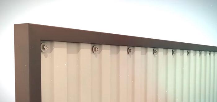 заполнение створки ворот профнастилом