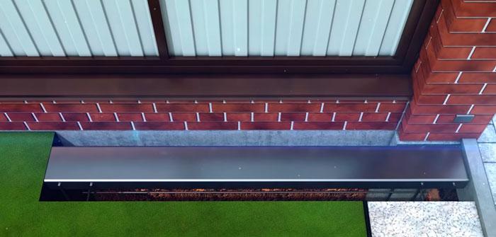 забетонированный 16-й швеллер для откатных ворот