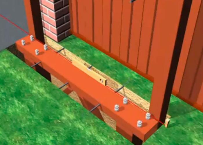 монтаж швеллера под откатные ворота