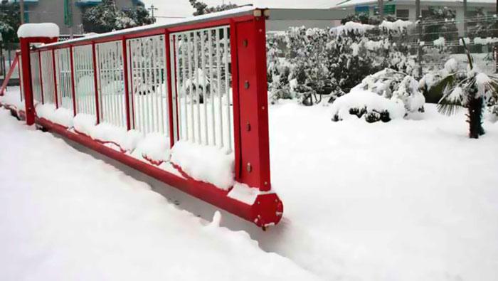 откатные ворота зимой эксплуатация