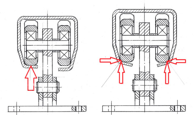 нарушение геометрии направляющей и ее последствия для роликов откатных ворот