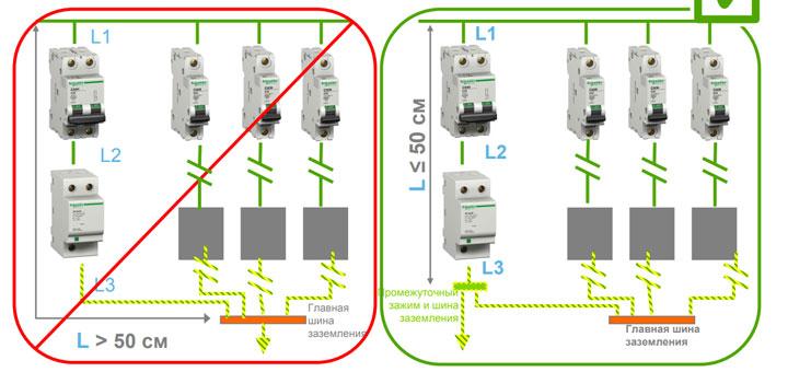 длина проводников для подключения узип