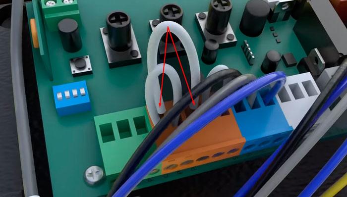 снятые перемычки на автоматике привода откатных ворот