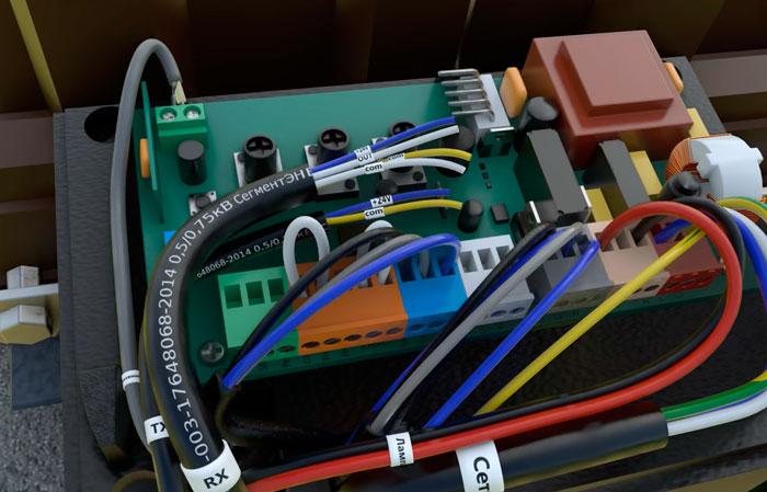 маркировка жил для подключения фотоэлементов автоматики откатных ворот