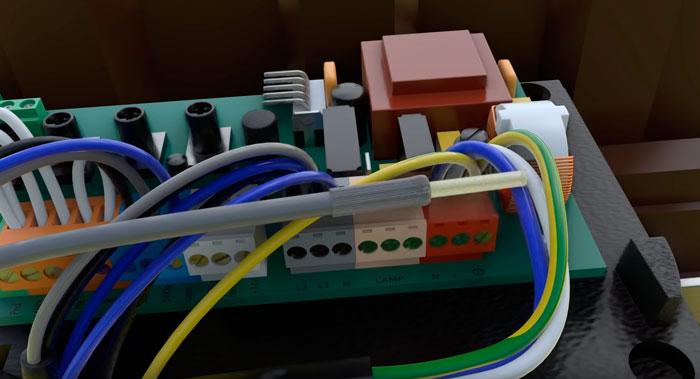 зачистка коаксиального кабеля на антенну для откатных ворот