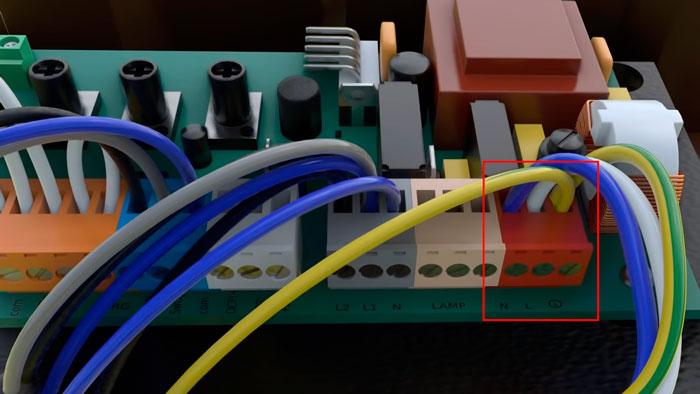 подключение кабеля питания на приводе откатных ворот