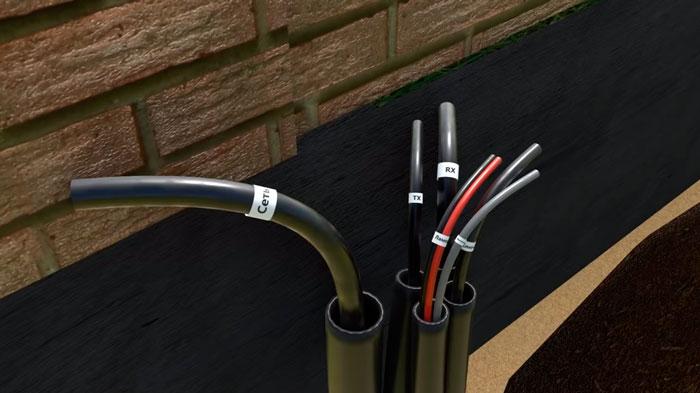 монтаж кабелей и подключение автоматики откатных ворот