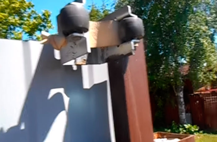 резинки для защиты от удара в улавливателях откатных ворот