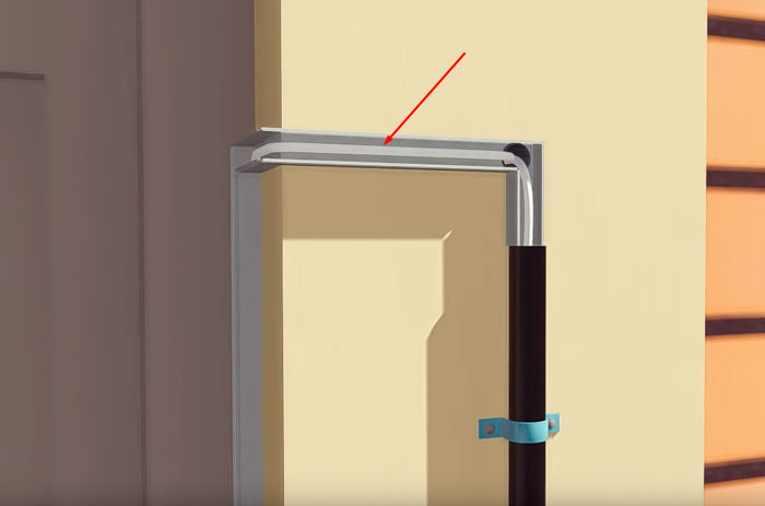 монтаж кабеля от вызывной панели до замка на калитке