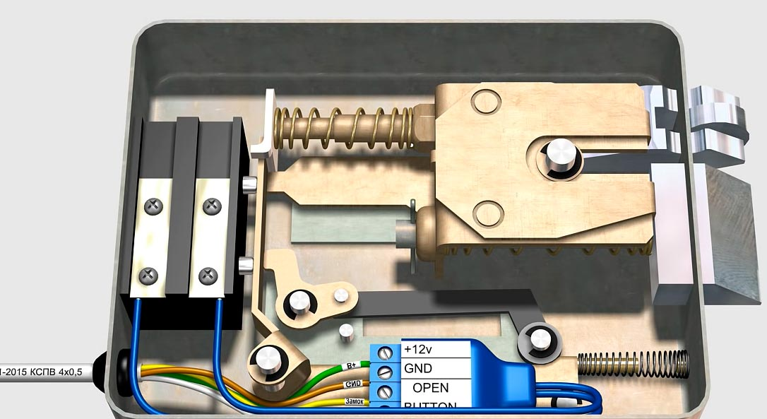 подключение БУЗ в электромеханическом замке