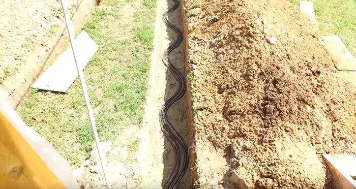 неправильная укладка кабеля в земле ошибки