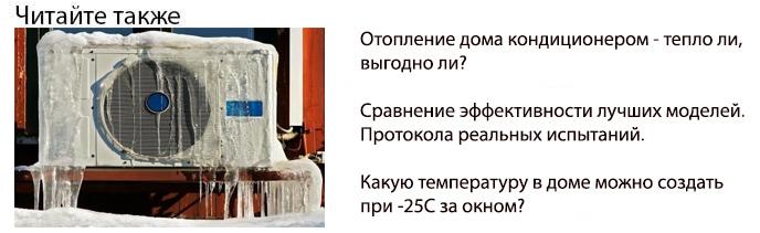 отопление дома зимой кондиционером
