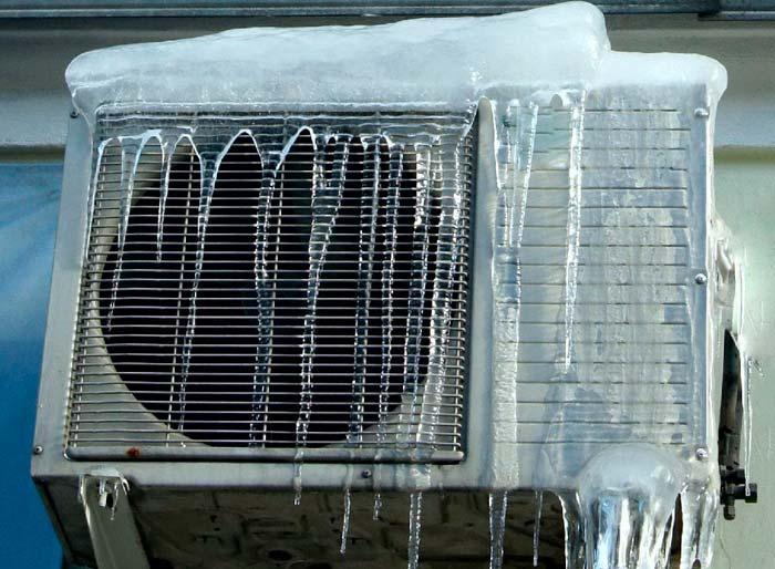 циклы оттаивания на кондиционере при работе на тепло