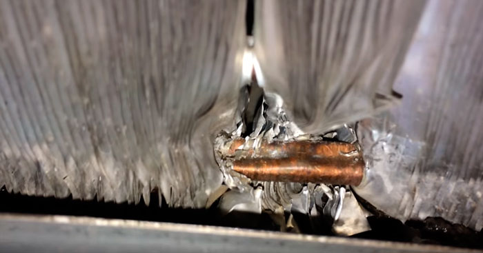 последствия обмерзания радиатора кондиционера