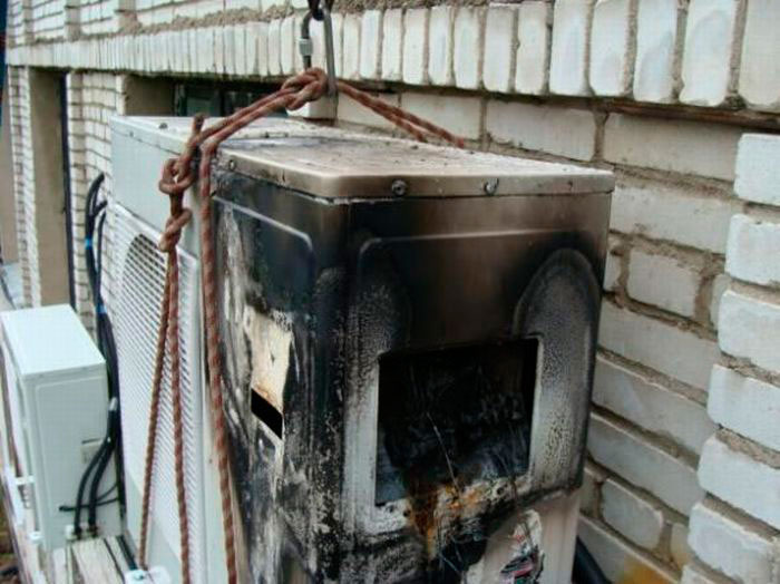 сгорел кондиционер